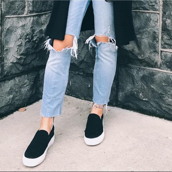 2220fa74e8b Black Steve Madden gills platform slip-on sneaker